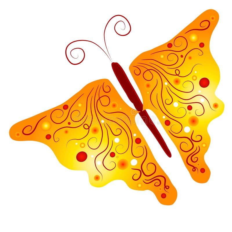 艺术查出的蝴蝶夹子 向量例证