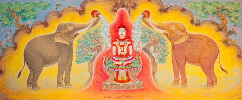 艺术样式泰国传统 库存图片
