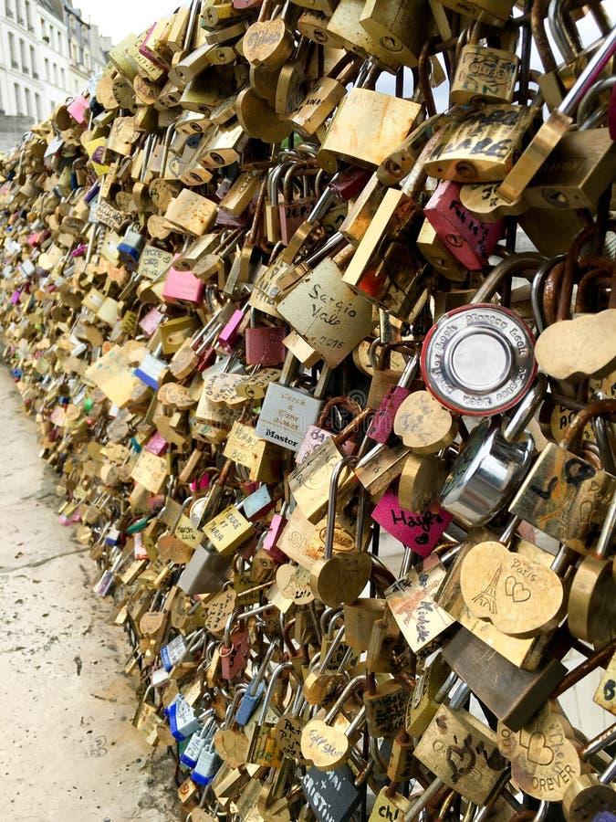 艺术桥或Passerelle des艺术 免版税库存图片