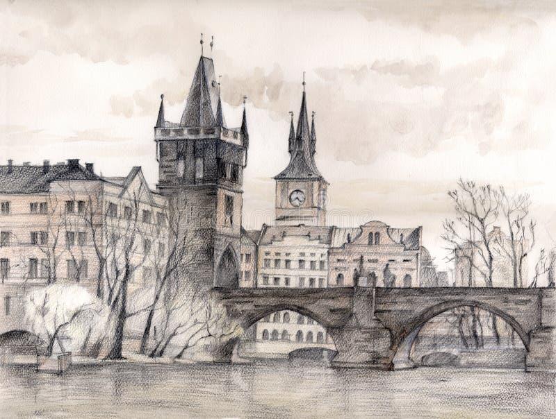 艺术桥梁查尔斯 皇族释放例证