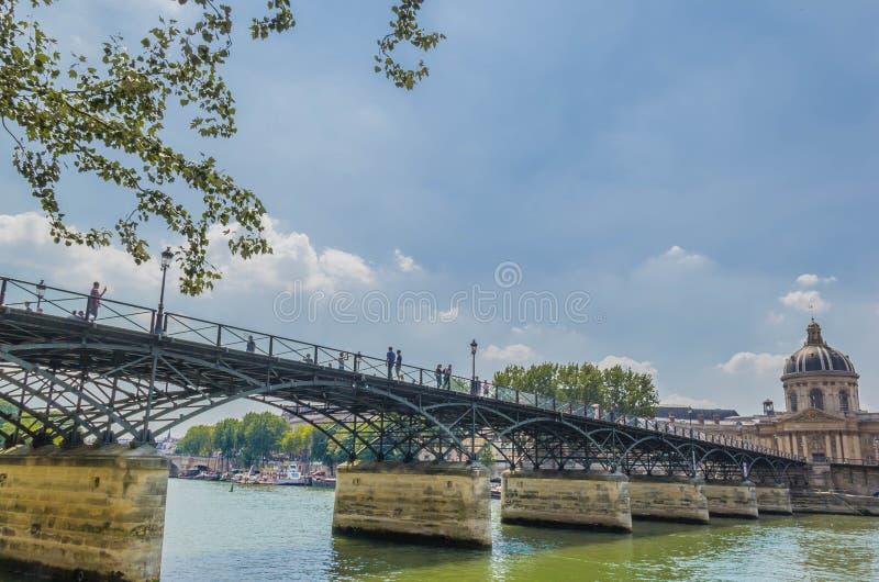 艺术桥梁des巴黎pont 免版税库存照片