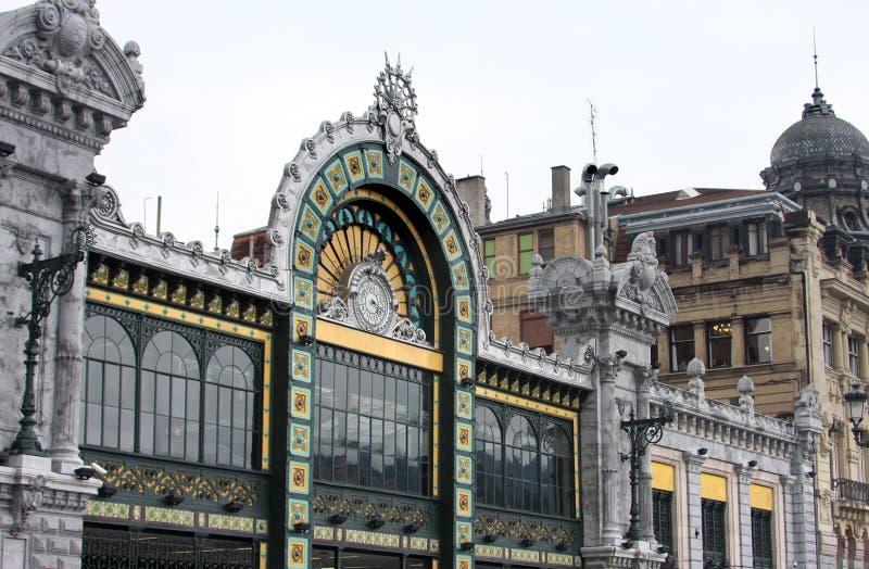 艺术毕尔巴鄂nouveau桑坦德岗位样式 免版税图库摄影