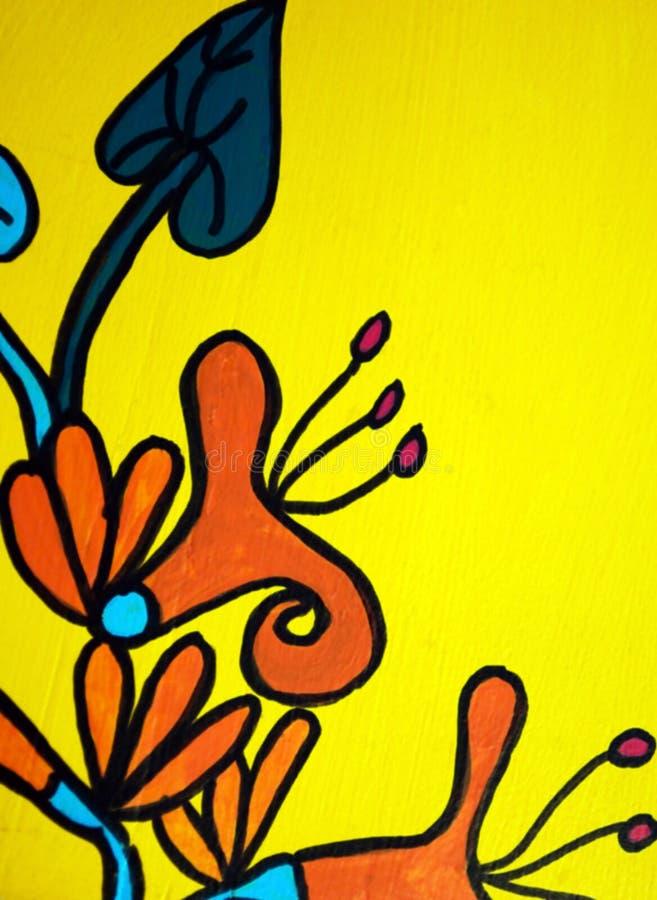 艺术民间绘画 库存照片