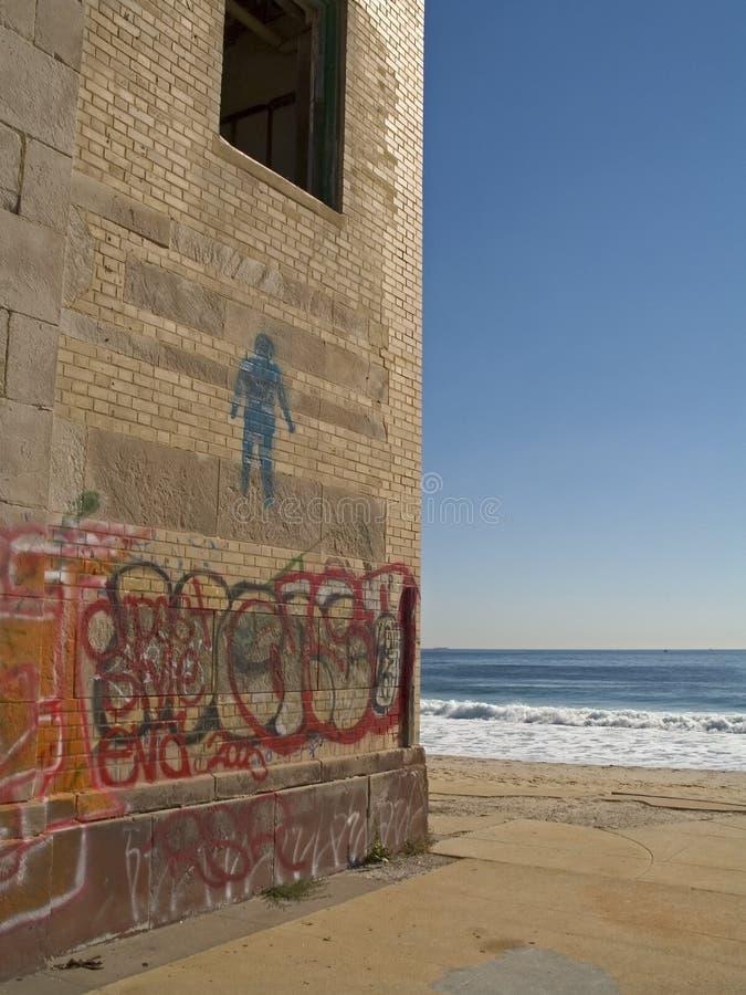 艺术海滩 免版税图库摄影