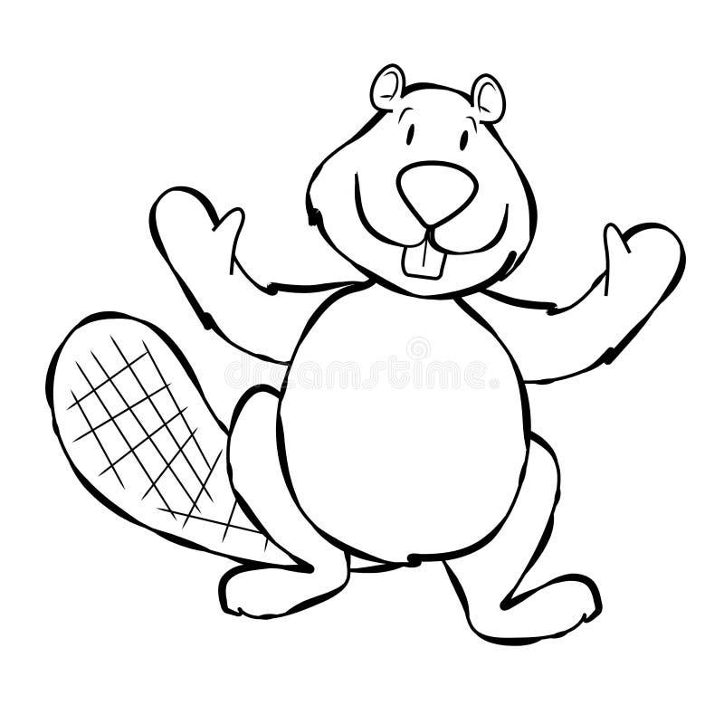艺术海狸动画片线路 皇族释放例证