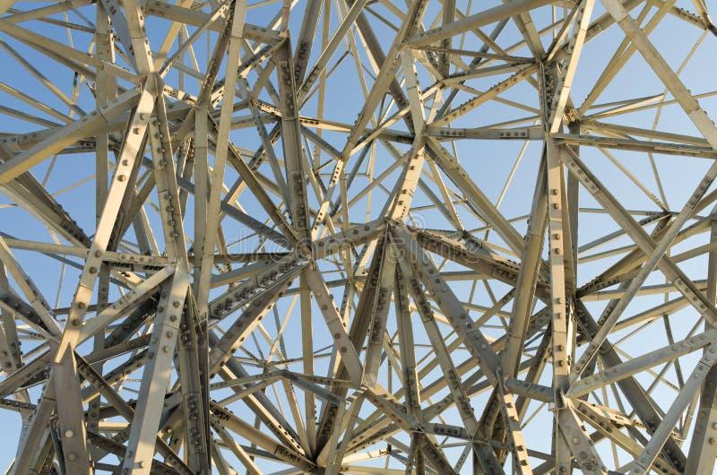 艺术混乱钢结构 免版税图库摄影