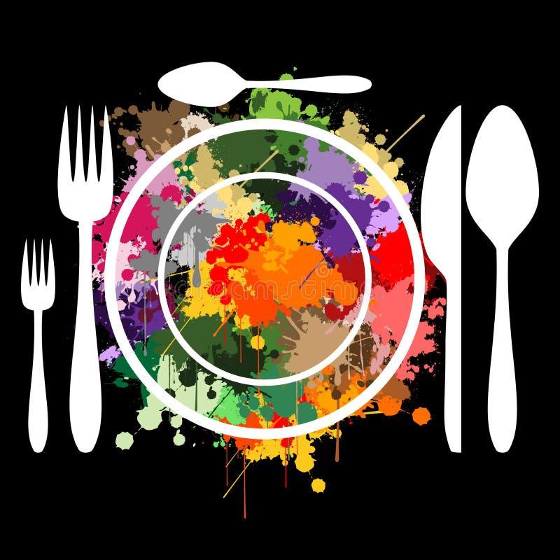 艺术烹调 向量例证