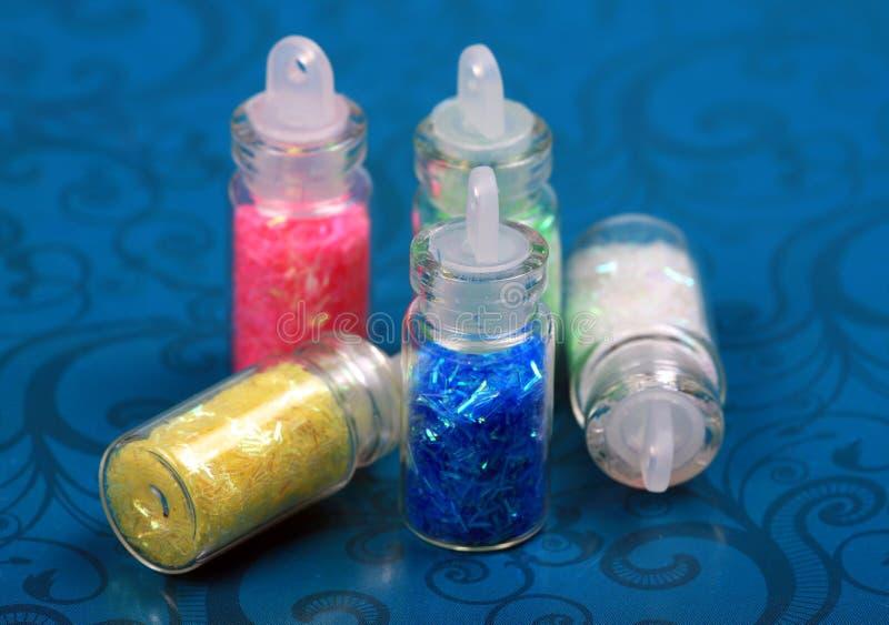 艺术瓶闪烁钉子 免版税库存照片