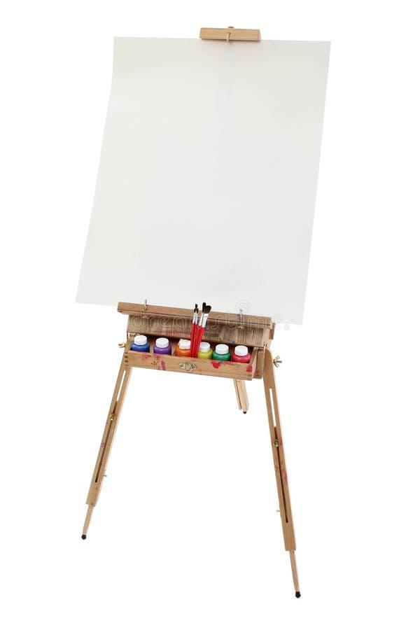 艺术画架学校 图库摄影