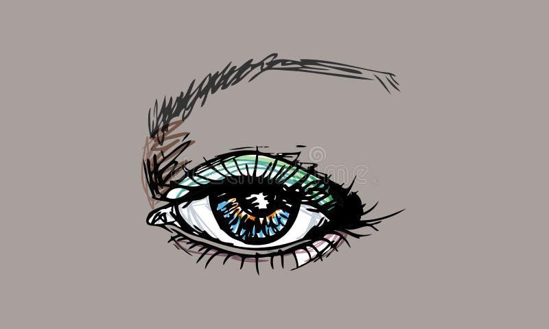 艺术眼睛图表 免版税库存图片