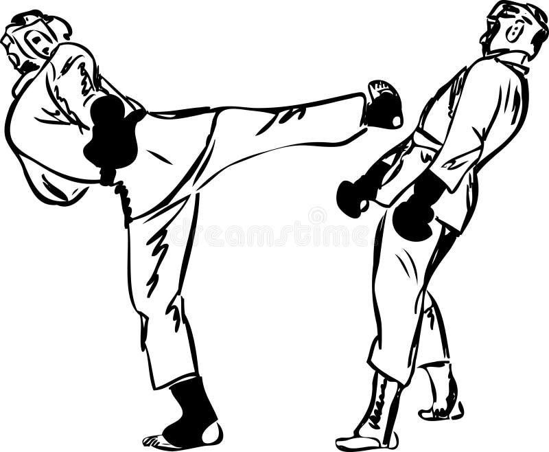 艺术空手道kyokushinkai军事体育运动 库存例证