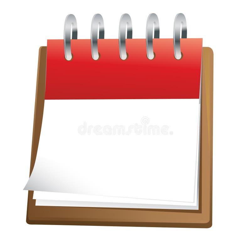 艺术空白日历夹子 向量例证
