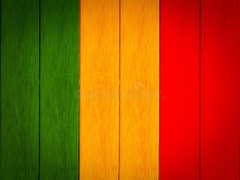 艺术红色绿色黄色木板条纹理背景 免版税库存图片