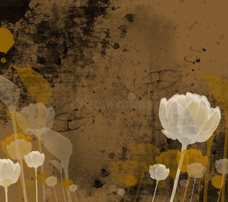 艺术细致的花卉例证 库存例证