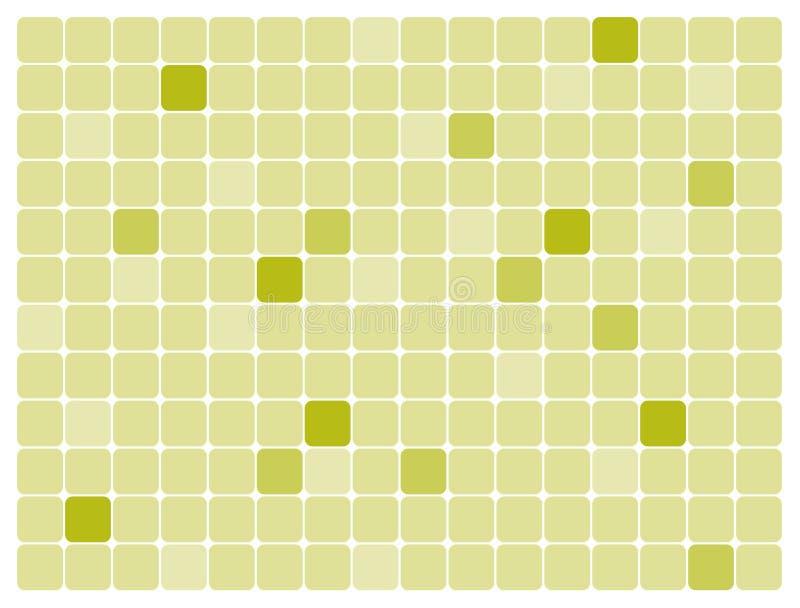 艺术绿色长方形被舍入的向量 库存例证
