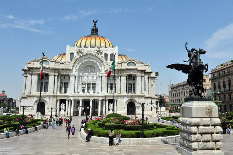 艺术罚款墨西哥宫殿 图库摄影