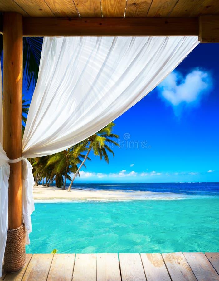 艺术美丽的海边 免版税图库摄影