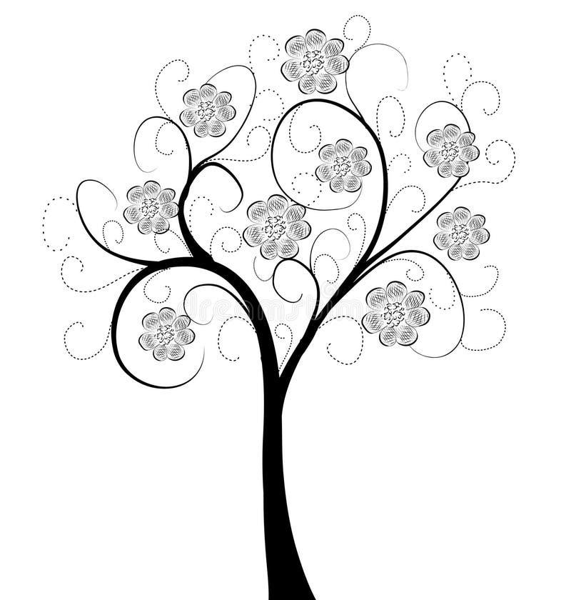 艺术美丽的结构树 库存例证