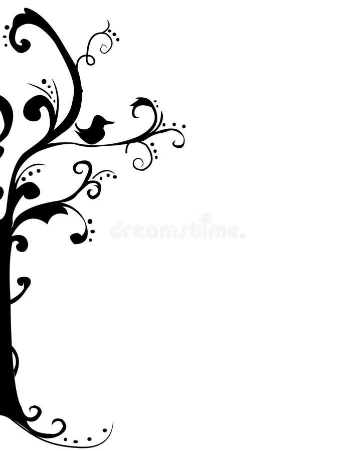 艺术美丽的结构树 向量例证