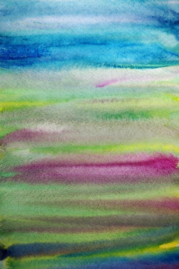 艺术背景创造性的镶边水彩 向量例证