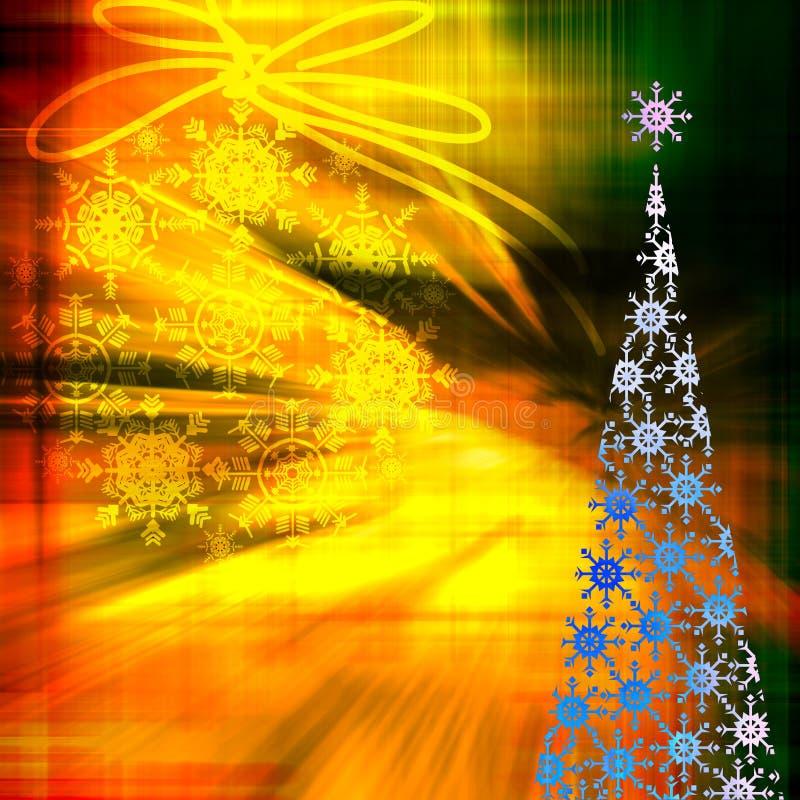 艺术背景圣诞节 库存例证
