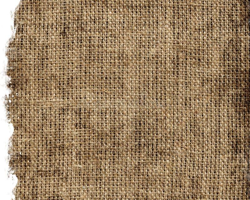艺术背景粗麻布布料片段图象大袋纹理种类 免版税库存照片