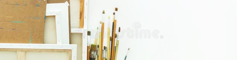 艺术背景设备用工具加工图画 免版税库存照片