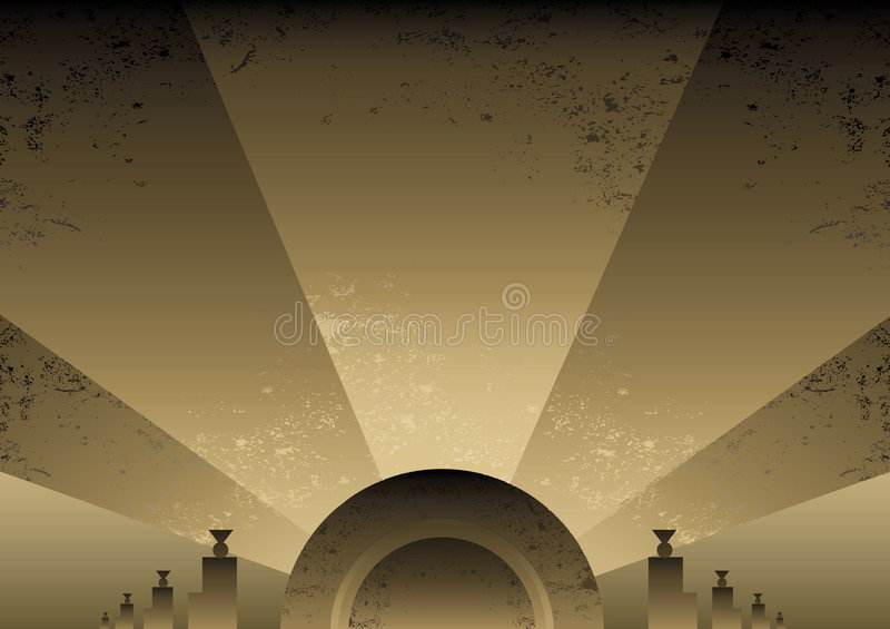 艺术背景deco设计未来派样式 皇族释放例证