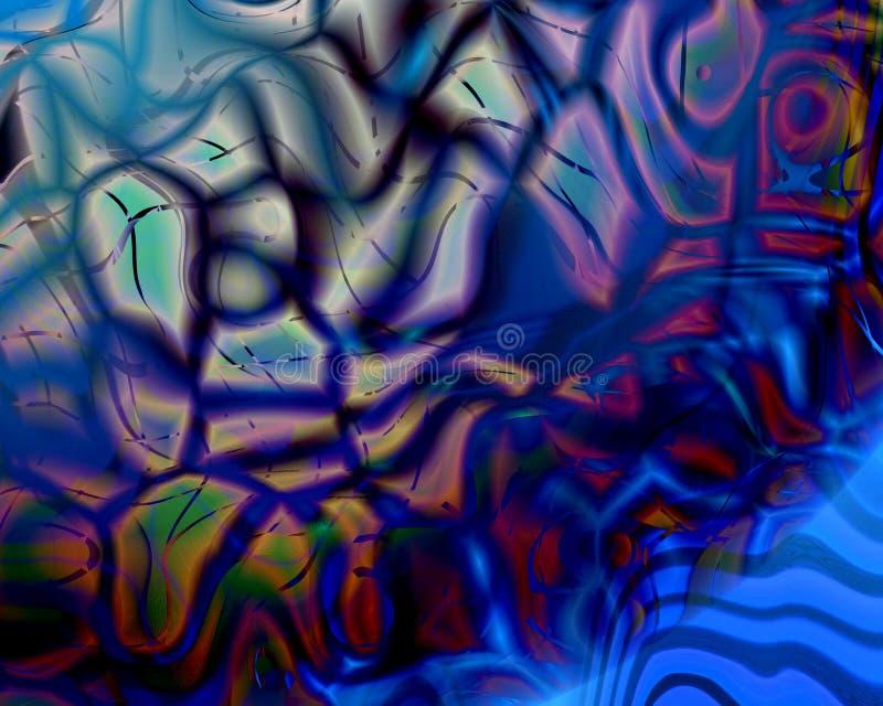 艺术蓝色基因假足 库存例证