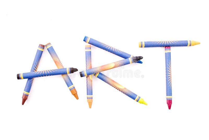 艺术蜡笔 库存照片