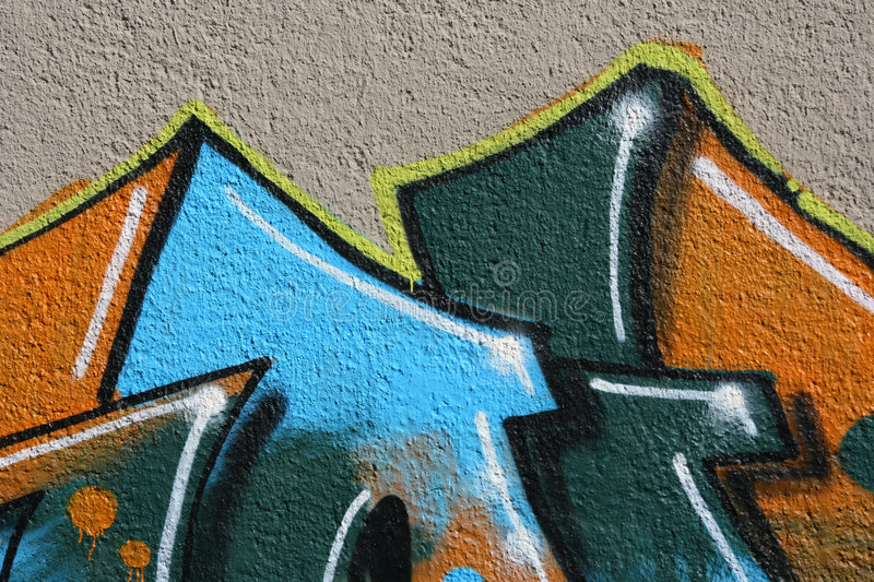 艺术街道画 图库摄影