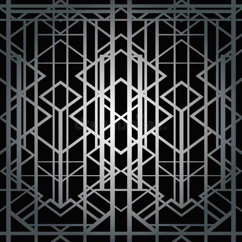 艺术装饰几何样式 向量例证