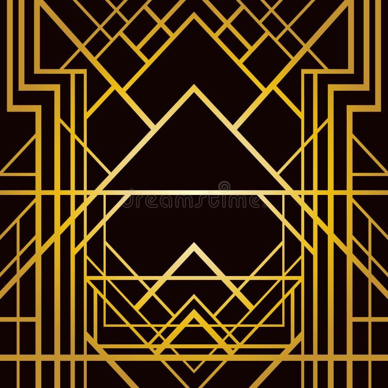 艺术装饰几何样式 皇族释放例证