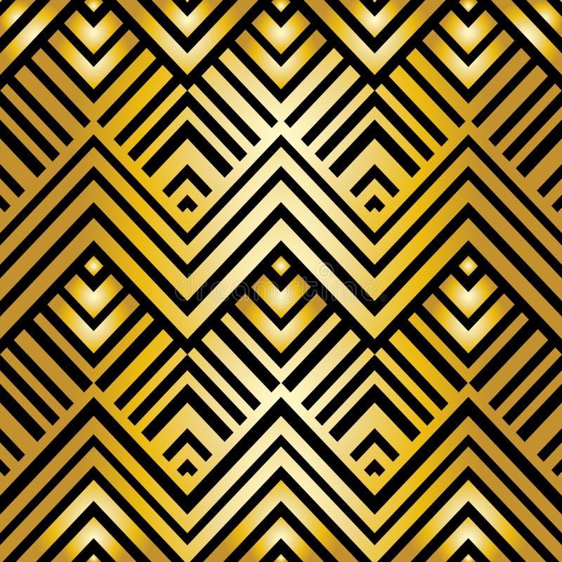 艺术装饰几何样式 库存例证