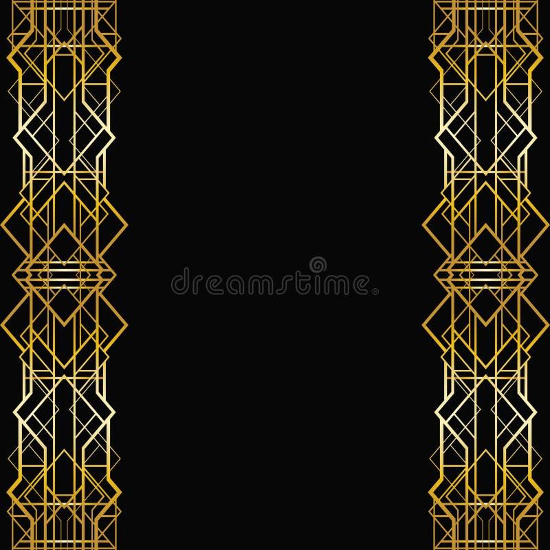 艺术装饰几何框架 皇族释放例证