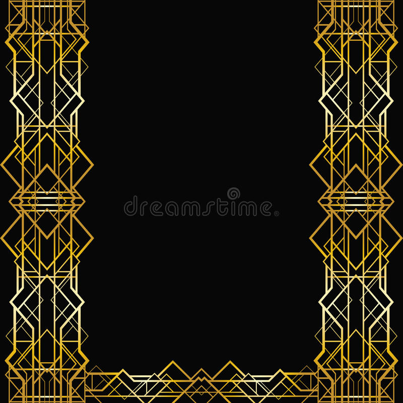艺术装饰几何框架 向量例证