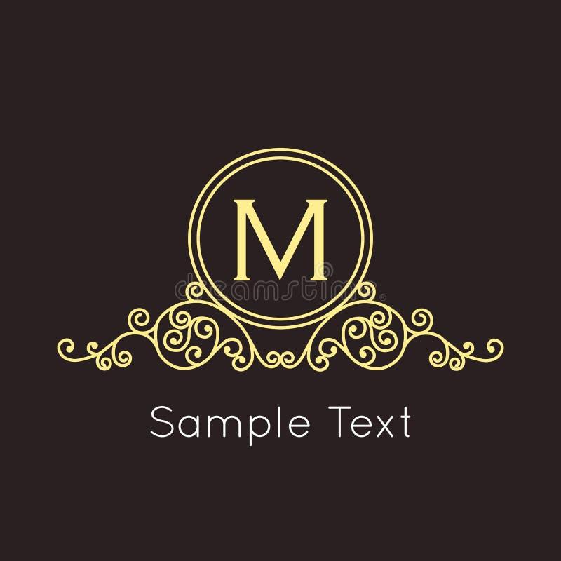 艺术装饰几何概述组合图案和商标 皇族释放例证