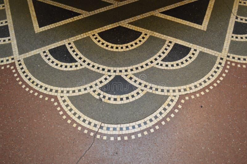 艺术装饰地板在哥本哈根 库存图片