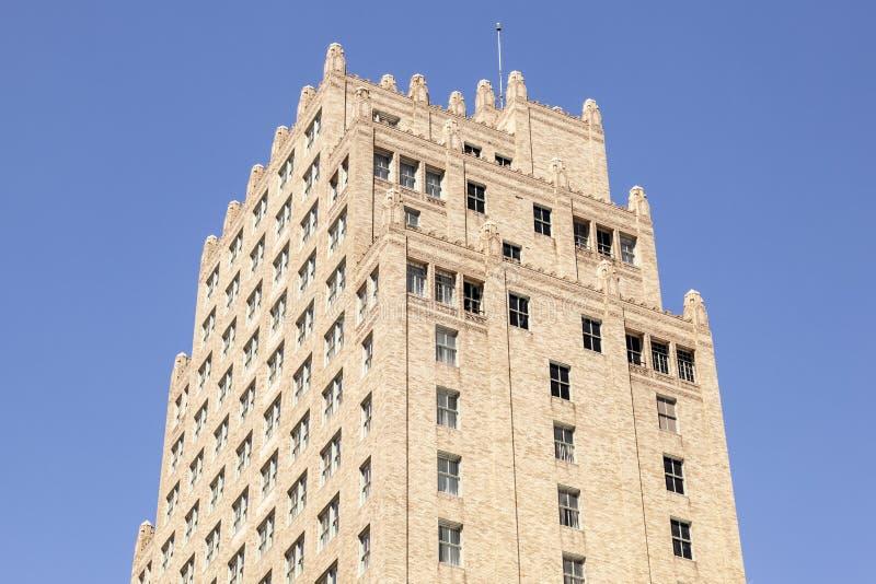 艺术装饰大厦在沃思堡,美国 免版税库存图片