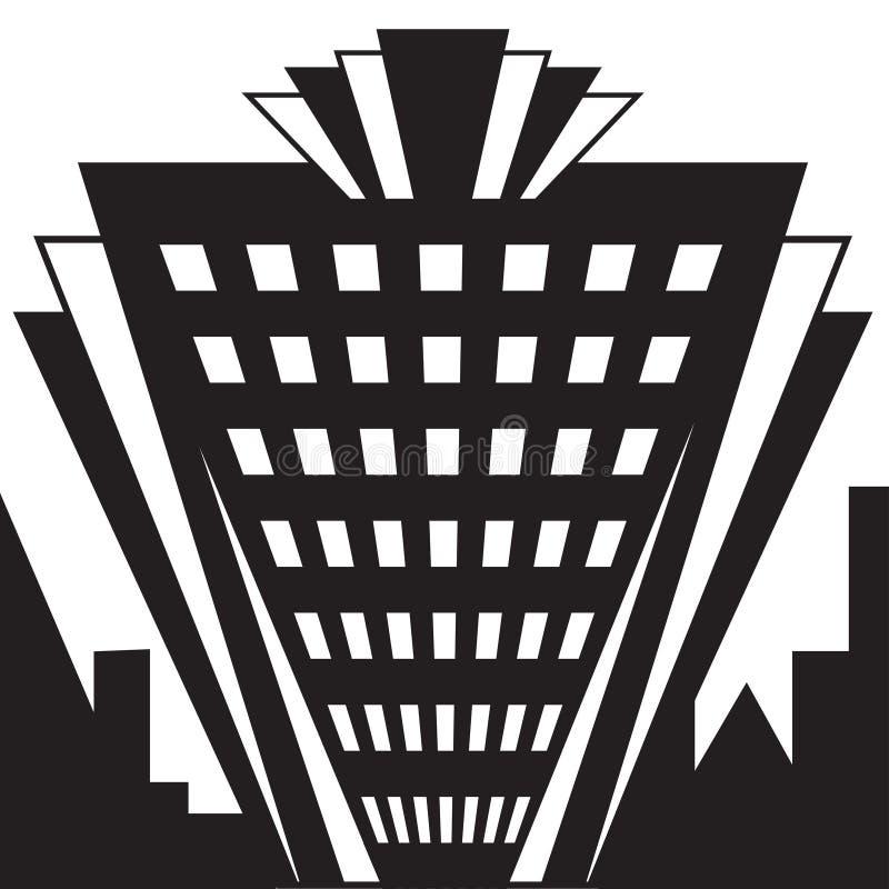 艺术装饰大厦 向量例证