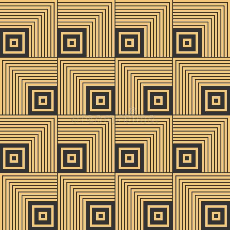 艺术装饰无缝的葡萄酒墙纸样式 向量例证