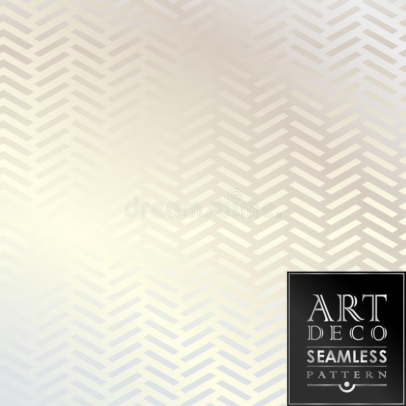 艺术装饰无缝的葡萄酒墙纸样式 皇族释放例证