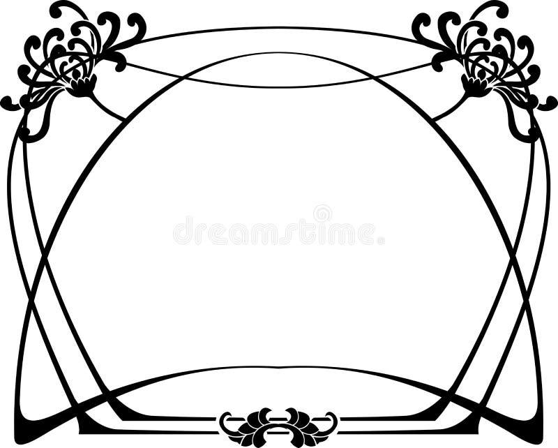 艺术装饰框架 向量例证