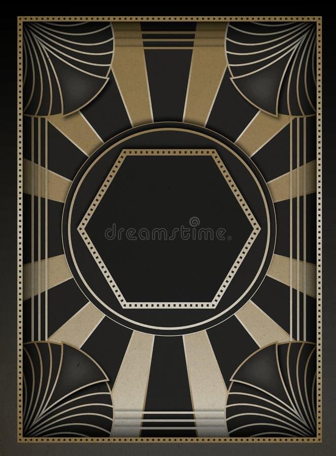艺术装饰背景和框架 向量例证