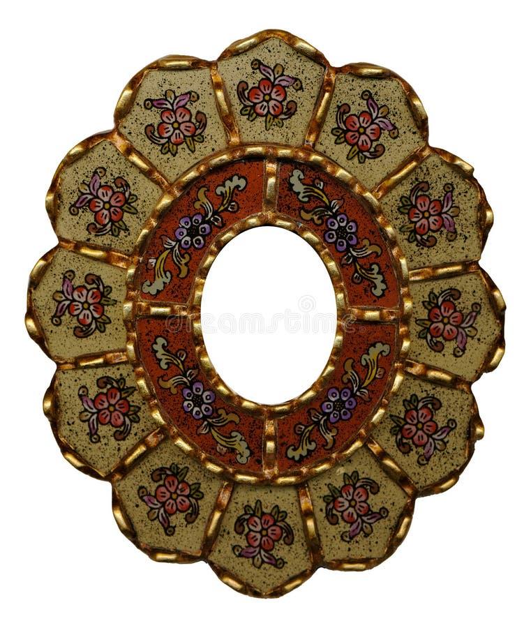 艺术装饰花卉民间框架 库存照片