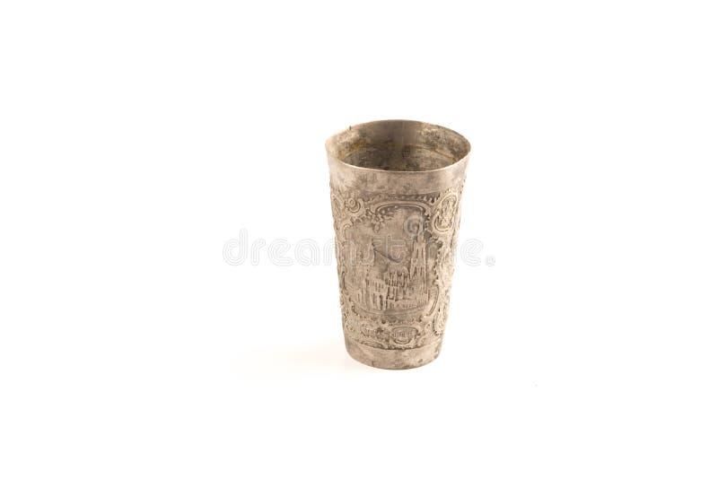 艺术装饰银杯子 免版税图库摄影