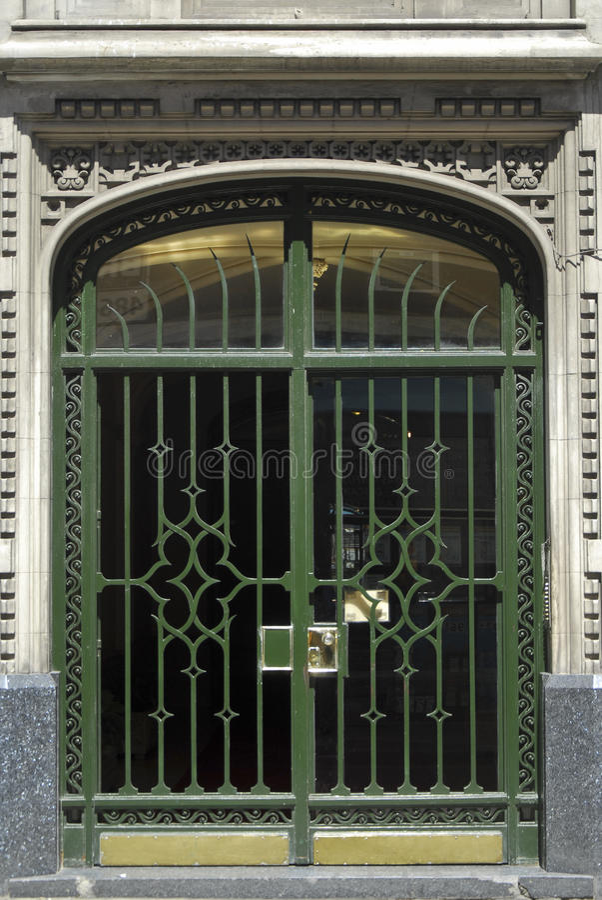 艺术装饰门在布宜诺斯艾利斯 库存照片
