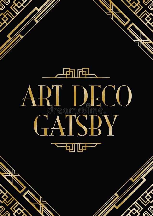 艺术装饰gatsby样式 皇族释放例证