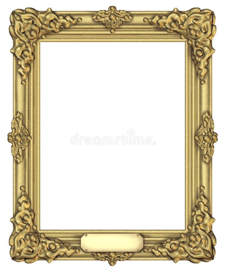 艺术证书框架 库存照片