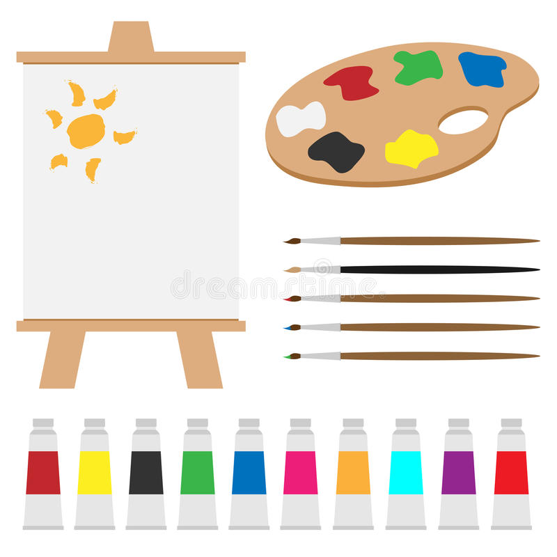 艺术调色板集 库存例证